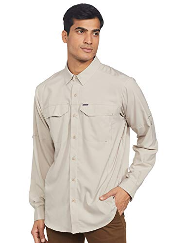 Columbia Men's Silver Ridge Lite Long Sleeve Shirt, Fossil, X-Large