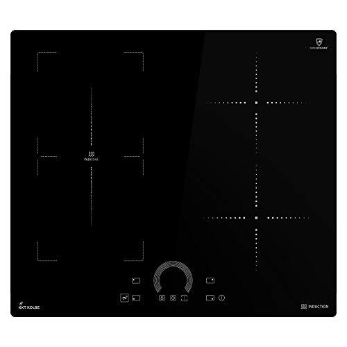 KKT KOLBE Encimera de inducción 59cm / Autárquica / 8,2kW / 9 pasos / 4 zonas/zona flexible/sin marco/teclas de sensor TouchSelect/amplificador/pantalla LED / IH85901FZ