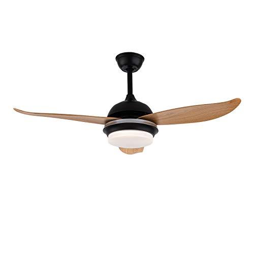 Ventilador de techo de 36 W, ventilador de techo con luz, mando a distancia, regulable, lámpara ventilador, reversible, 3 colores, temporizador, LED, 3 velocidades, motor silencioso