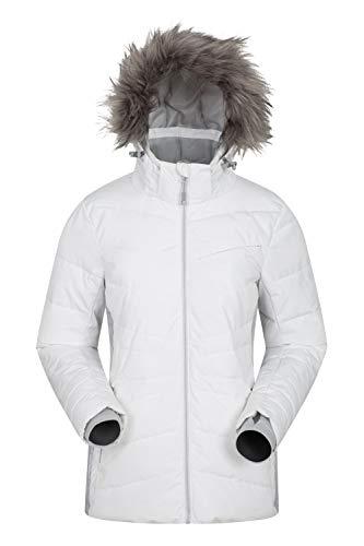 Mountain Warehouse Arctic Air Damen daungefütterte Skijacke warm Skifahren Snowboard Winterjacke wasserdicht Weiß 38 DE (40 EU)