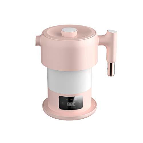 XJJZS Caldera 0.6L Mini Plegable Hervidor eléctrico de Acero Inoxidable de Agua...