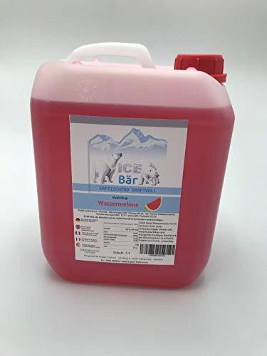 ICE BÄR Sirup Wassermelone Slush Konzentrat Slush Ice / Slush AZO FREI Eis 5 Liter Ergibt 30 Liter Slush