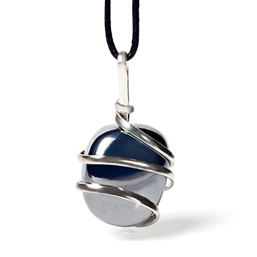 Raw Hematite Crystal Pendant Necklace - Grounding Balancing Joy Vitality Confidence Clarity Overwhelm - Authentic Stone On Adjustable Length Cord - Real Gemstone Chakra Healing Charm