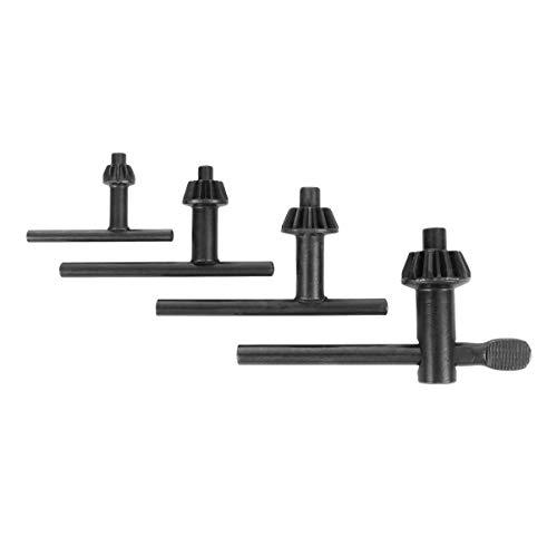 Hemoton 4 Stücke Bohrfutterschlüssel Bohrmaschine Bohrschlüssel Spannwerkzeug Tragbare Metall Schlüssel 20mm 10mm 13mm 16mm Schwarz Bohrmaschine Zubehör