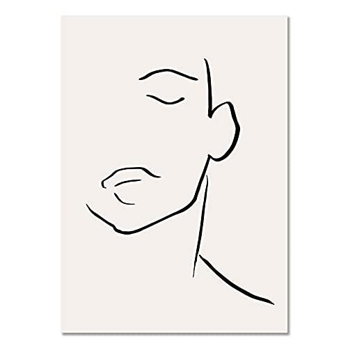 Pinturas murales abstractas de William Morris Picasso Matisse, carteles y grabados nórdicos, pinturas en lienzo sin marco A5 60x90cm
