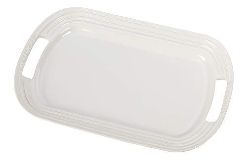 "Le Creuset Stoneware 16"" Oval Serving Platter, White"