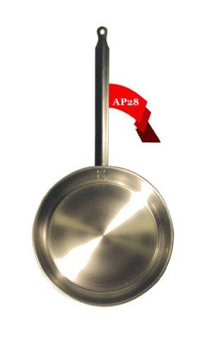 Bratpfanne aus Eisenstahl Eisenpfanne rund 28 cm L'Arbalète