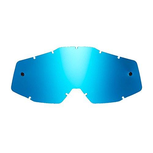 SeeCle 41S208 lentes de repuesto para máscaras azul espejado compatible para màscara 100% Racecraft/Strata/Accuri/Mercury