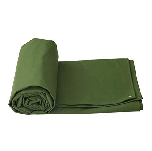 LQq-Bâches Bâche imperméable à l'eau Pare-soleil pluie coupe-vent double-crème solaire sidede couche imperméable Camion Couverture Cargo Tissu Vert PVC pour le camping en plein air (taille : 5X3M)