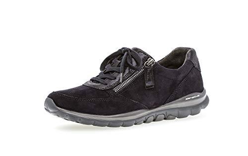 Gabor Damen Sneaker, Frauen Low-Top Sneaker,Optifit- Wechselfußbett, Sportschuhe Freizeitschuhe Laufschuhe Low-top Freizeit,Pazifik,41 EU / 7.5 UK