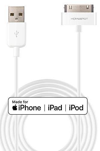 HomeSpot Cavo USB, certificato Apple MFi, a 30 pin, compatibile con iPhone 4, iPhone 4S, iPad 1/2/3, iPod Touch, iPod Nano, alta qualità