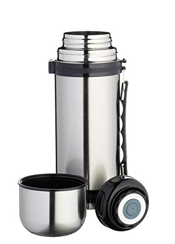 MasterClass Stainless Steel Vacuum Flask with Handle, 1 Litre (1.75 Pints)