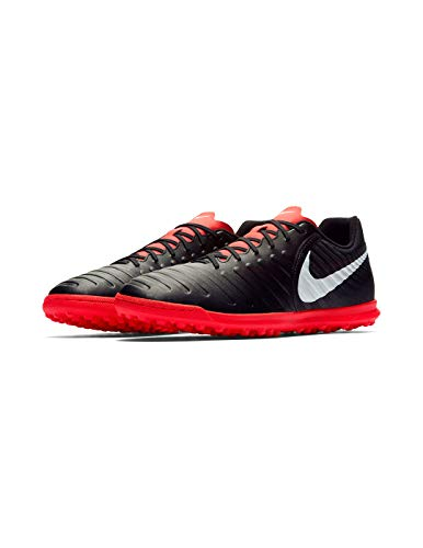 Nike Legend 7 Club Tf, Scarpe da Ginnastica Basse Uomo, Multicolore (Black/Pure Platinum/Lt Crimson 001), 40 EU