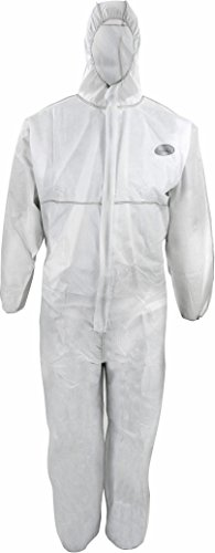 50 Stück Einwegoverall CoverTex SMS C1, Cat III Typ 5+6, weiss, Antistatisch EN 1149, Chemikalienschutz, Asbest, Gr.: L