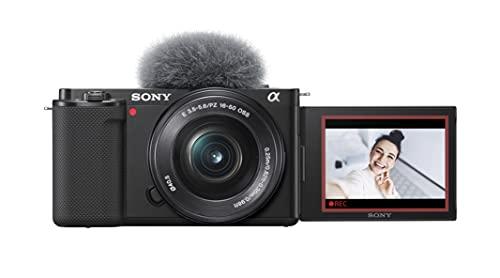Sony Alpha ZV-E10 - APS-C Interchangeable Lens Mirrorless Vlog Camera Kit - Black