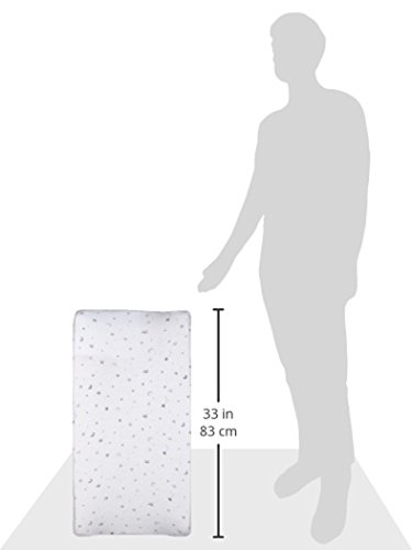 American Baby Company Printed 100% Natural Cotton Jersey Knit Fitted Contoured Changing Table Pad Cover, Grey Stars and Moon, Soft Breathable, for Boys and Girls, 17x35x5 Inch (Pack of 1)