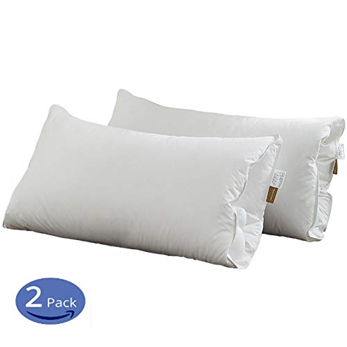 ZJING Goose Down and Feather Bed (2 Installed) with A Pillow - A Standard Hotel Selection, Natural Filling, Medium Hardness, The Best Orthopedic Pillow Sleep