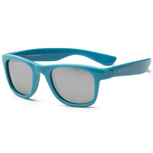 Koolsun pour bébé et enfants Lunettes de soleil Wave Fashion 1 + | Cendre Blue Miroir – Protection UV 100% – Optical Clas 1, Cat. 3