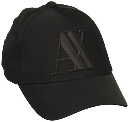 Armani Exchange Men s 3D Rubber AX Tonal Logo Hat, Nero Black, UNI