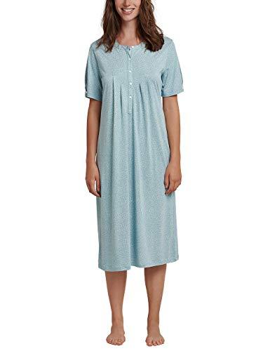 Schiesser Damen 1/2 Arm, 110cm Nachthemd, Grün (Jade 713), 40