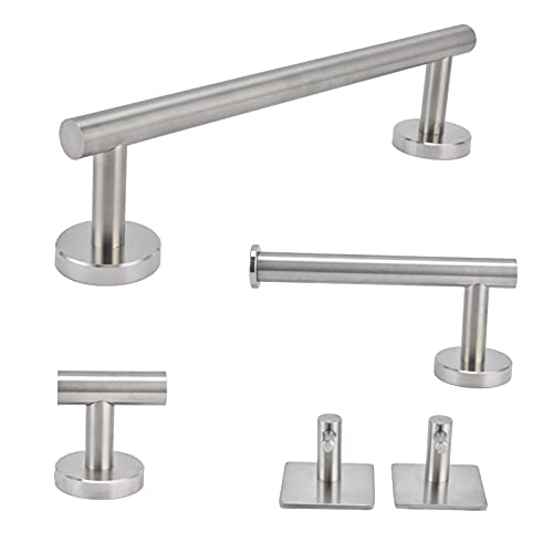 Toallero, fácil de instalar Organizador de toallas de acero inoxidable duradero para guardar toallas de mano y toallas de plato en uso para baño, armario, cocina, dormitorio
