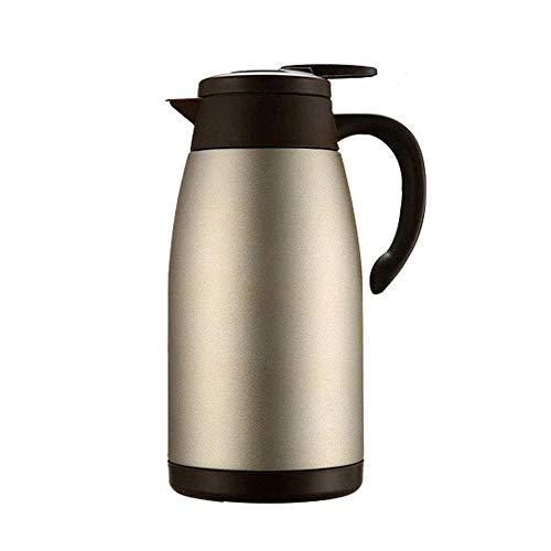LIANGANAN Taza de agua portátil, jarra de café térmica al vacío, olla de aislamiento de acero inoxidable para el hogar, termo de gran capacidad, retención de calor 24 horas, 64 onzas (2L) zhuang94