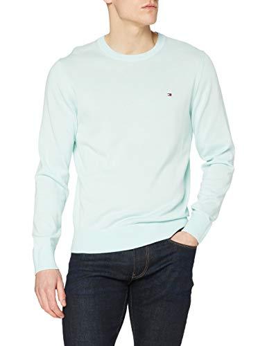 Tommy Hilfiger Organic Cotton Blend Crew Neck Sweater, Oxygène, M Homme