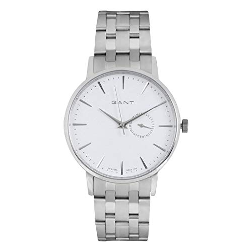GANT Herren-Armbanduhr XL Analog Quarz Edelstahl W10845