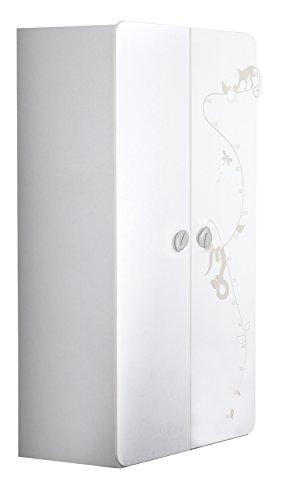 Demeyere Jungle 316200-Armadio a 2 Ante, Colore: Bianco/Beige, 106 x 57 x 185 cm