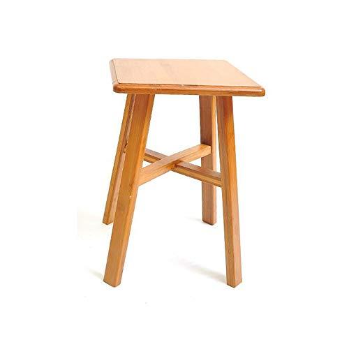 YQQ Tabouret De Table Adulte Chaise De Salle À Manger Tabouret en Bambou Tabouret Rond Coiffeuse Tabouret en Bois Massif Petit Banc Tabouret Carré (Couleur : Carré)