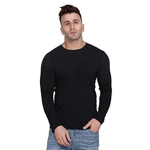 SWIFTLY Men's Round Neck Full Sleeve T Shirt (Medium, Black)