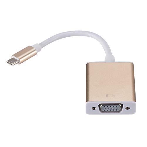 huiingwen USB-C Zu VGA Adapter USB 3.1 Typ C USB-C Zu Buchse VGA Adapterkabel Für Neues MacBook 12 Zoll Chromebook Pixel Lumia 950 XL