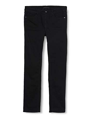 MAC Jeans Damen Slim Jeans Angela_5240, Schwarz (Black D999), W44/L32