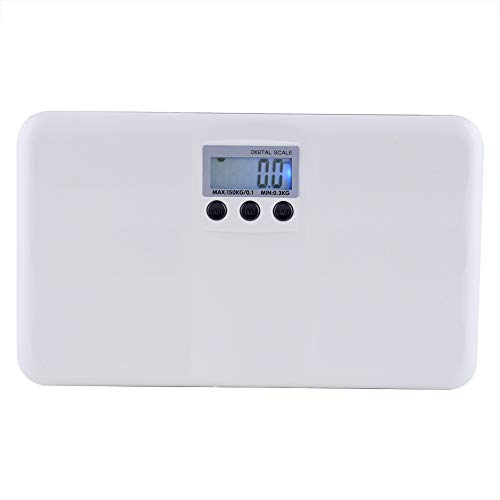 Nikou Weight Scale - LCD Digital Electronic On/Tare Function Low Battery/Lock Alarm Baby Pet Body Weighting Scale