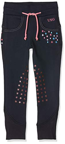 USG Kinder Little Star Reithose, Marine/pink, S (98/104)
