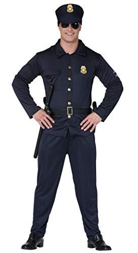 Fiestas Guirca- Costume da Poliziotto Americano Uomo, Colore Blu, L, 20273