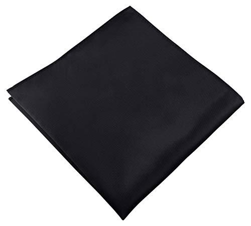 Helido Einstecktuch für Herren, 30 x 30 cm, Stoff-Taschentuch passend zu Anzug/Sakko – als Ergänzung zum Tuch eignen sich Fliege oder Krawatte (Schwarz)