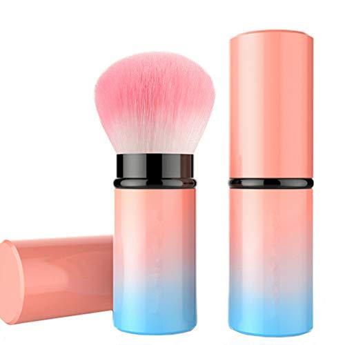 WiseLight Rétractable Pinceau Kabuki Professionnel Pinceau Fard à Joues Portable Application de Maquillage Parfaite Visage Pinceau Fond de Teint pour Poudre Liquide BB Crème Correcteur, Couleur