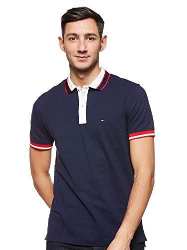 Tommy Hilfiger Herren Contrast Placket Regular Polo Poloshirt, Blau(Maritime Blue431), XX-Large (Herstellergröße:XXL)