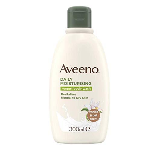 Aveeno Tägliches feuchtigkeitsspendendes Joghurt-Duschgel, 300ml, Vanille- und Hafer-Duft