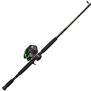 Zebco 808 Bite Alert Spincast Reel and 2-Piece Fishing Rod Combo, Instant Anti-Reverse Fishing Reel, Size 80