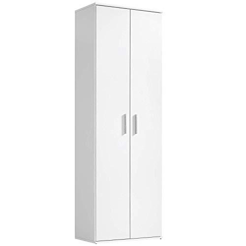 mokebo® Mehrzweckschrank \'Der Lange\', funktionaler Aktenschrank oder Schrank, Made in Germany, Weiß -11