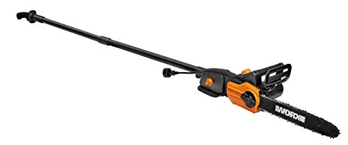 """WORX WG309 8 Amp 10"""" 2-in-1 Electric Pole Saw & Chainsaw with Auto-Tension (Renewed)"""