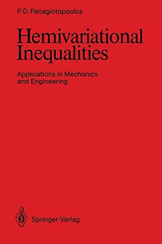 Hemivariational Inequalities: Applications in Mechanics and Engineering