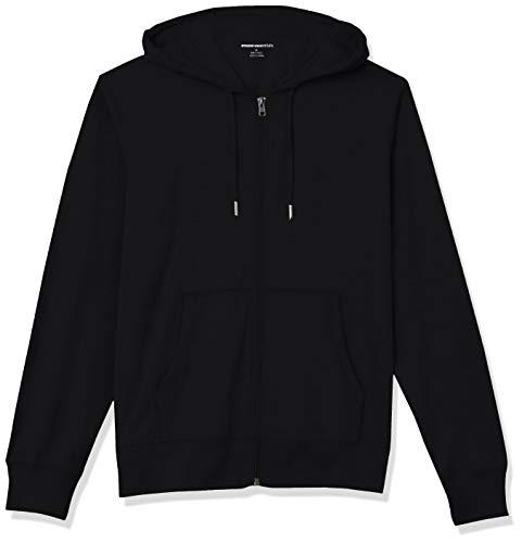 Amazon Essentials Lightweight Jersey Full-Zip Hoodie Fashion-Hoodies, Nero, S