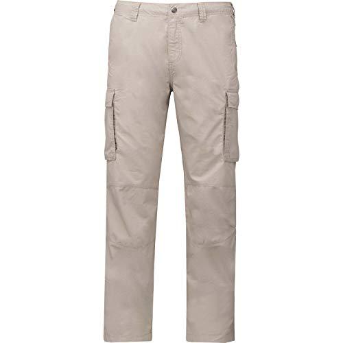 Kariban Pantalon léger Multipoches Homme - Beige, 38 FR, Homme