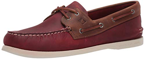 Sperry Herren A/o 2-eye Leather Bootsschuh, Oxblood/Riverboat, 46 EU