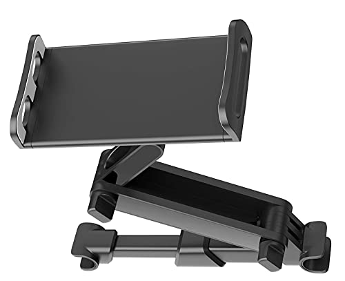 JANWIL Auto-Rücksitzhalterung Tablet Computerhalterung Universal 360 Grad drehbare 4,7-12,9 Zoll Halterung Auto Kopfstützen Handy Tablet Ausziehbar(Black)