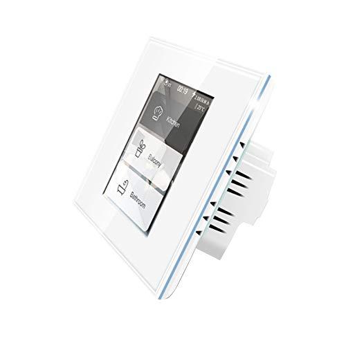 Interruttore a parete WiFi Smart Touch Pannello LCD, interruttore a tenda wireless Interruttore luce Interruttore domestico 4 in 1 Funziona con Homekit Alexa Google Home, NESSUN hub richiesto