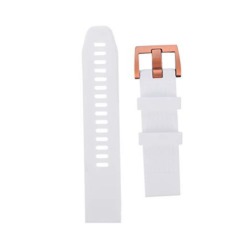 ULTECHNOVO Pulseira de Relógio Inteligente Pulseira de Silicone Pulseira de Substituição de Relógio Compatível para Garmin Fenix 5S 20Mm (Branco)